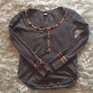 Free People Gray Thermal